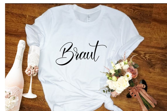 T-Shirt Bride Bride Also With Name and Date Statement Shirt
