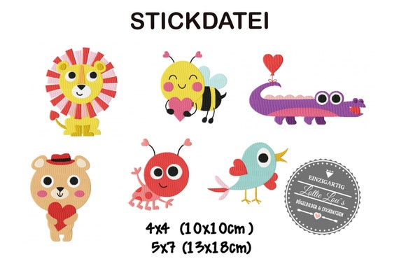 Stick file set Lion beetle Bear Bee bird Kroko