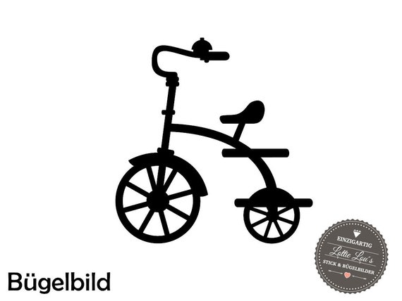 Iron on ironing frame tricycle bicycle wish size
