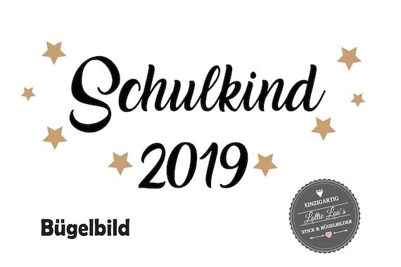 Bügelbild  Schulkind 2019  auch . für Schultüte