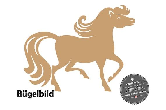 Iron on Temple horse Pony Wish size