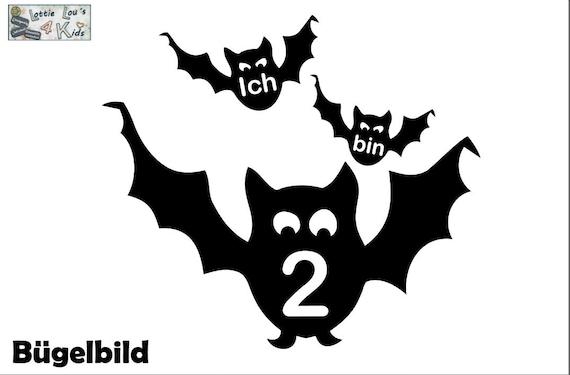 Bügelbild Geburtstag Fledermaus Wunschgröße  FarbeIron On