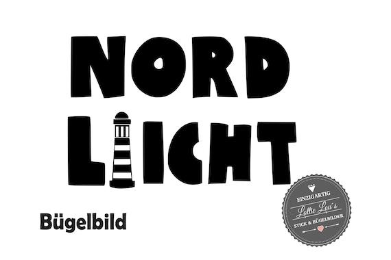 Ironing board DIY Northern Lights Lighthouse Maritim Iron on appliqué glitter flock effect Flex