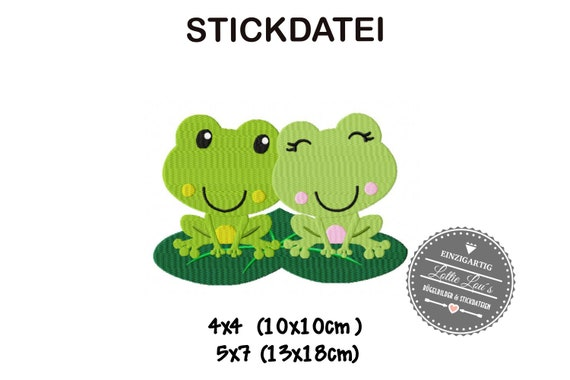 Stick file Frog Frog Love love 4x4 5x7