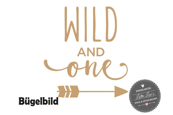 Personalisiertes Bügelbild DIY Geburtstag Birthday Wild and One Pfeil Iron On Aufbügler Glitzer Flock Effekt Flex Geburtstags Shirt