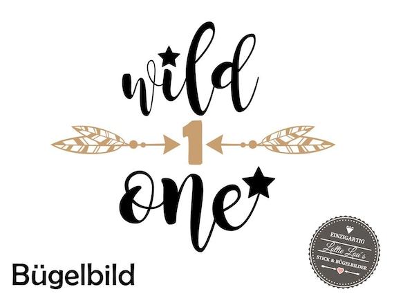 Bügelbild Geburtstag Wild One