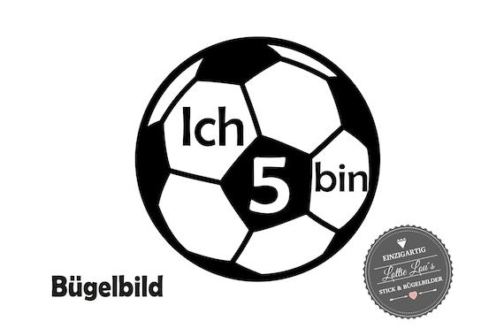Bügelbild Geburtstag Fußball mit Wunschzahl