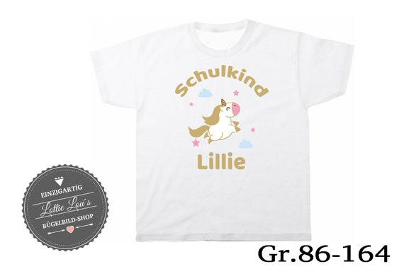 T-Shirt Child unicorn 2018 Wish name