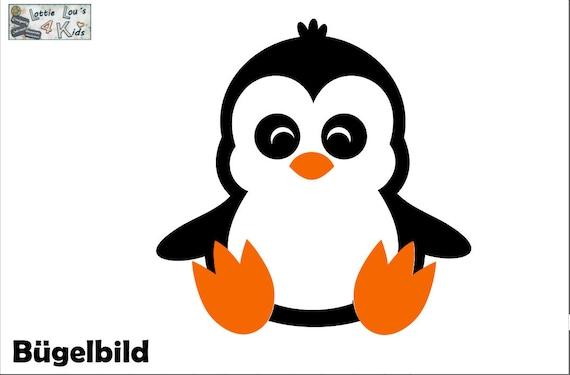 Iron on ironing image penguin wish color + size