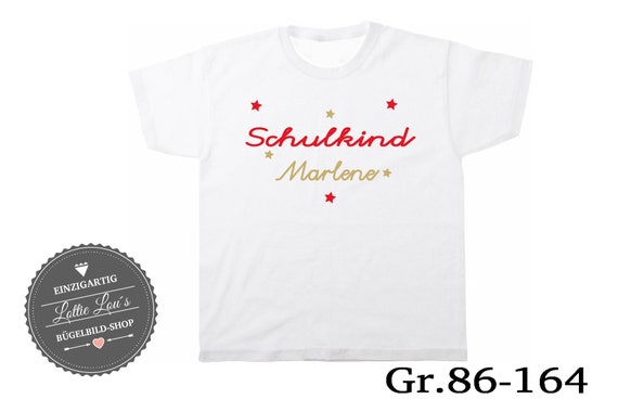 T-shirt schoolchild 2018 Wish name
