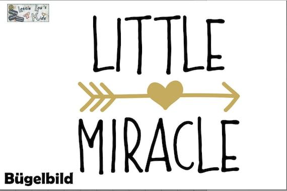 Bügelbild Little Miracle Kleines WunderIron On