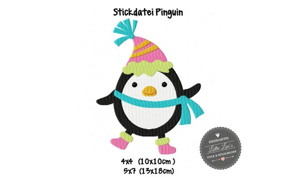 Embroidery File Christmas Winter Penguin
