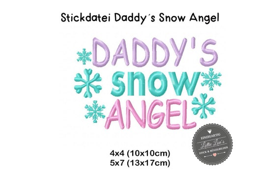 Stick file Daddy Snow Angel Winter Snow 4x4 5x7