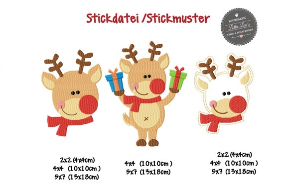 Embroidery file embroidery Design set Christmas elk reindeer Christmas jef pes hus sew xxx pec edr bak VIP VIP3 exp