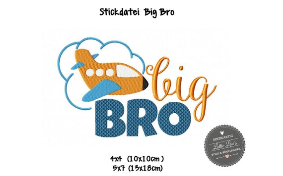Stick file big bro Brother airplane 4x4 5x7