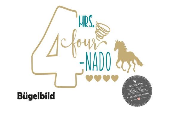 Bügelbild Geburtstag Pferd  Mr. Four nado 4 vierter Geburtstag