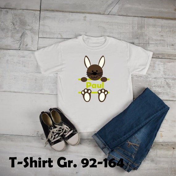 Iron on T-shirt/Body Bunny Bunny with wish name Easter