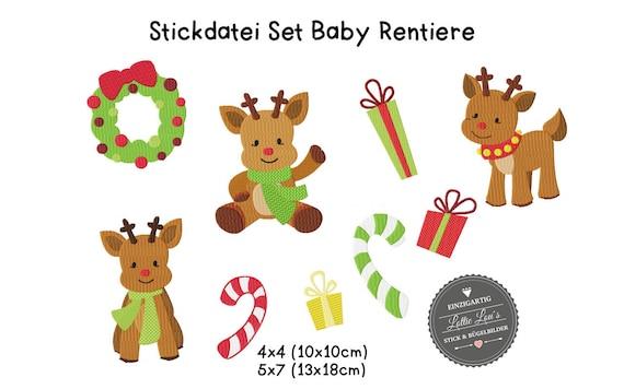 Stick file Set Baby Reindeer Xmas xmas