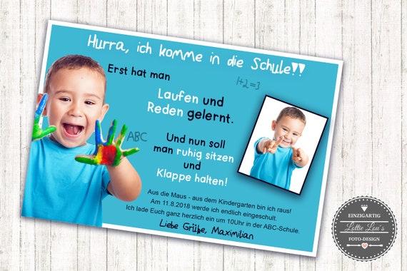 Einladungskarte Einschulung m eigenen Foto Text