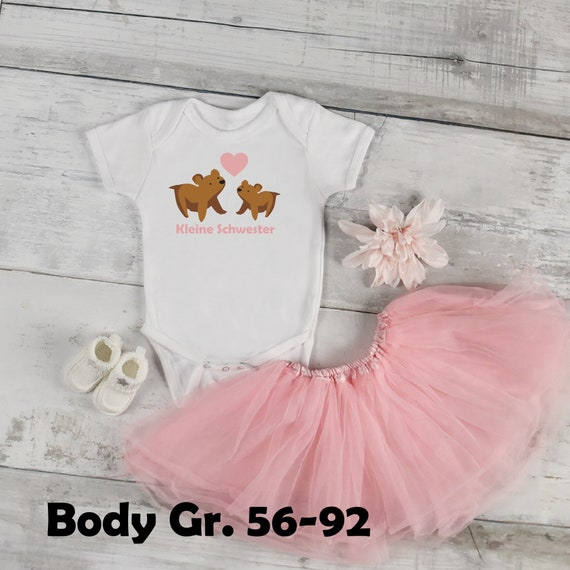 T-shirt/Body little Sister bear a. With name year iron on Heat transfer patch sister sister brother custom individual glitter