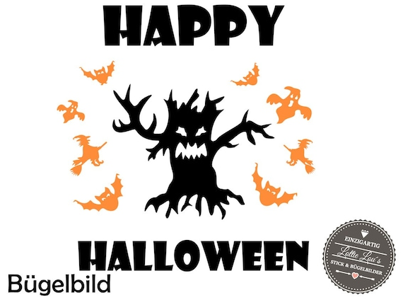 Bow DIY halloween Bat Bat tree Iron on appliqué glitter flock effect Flex