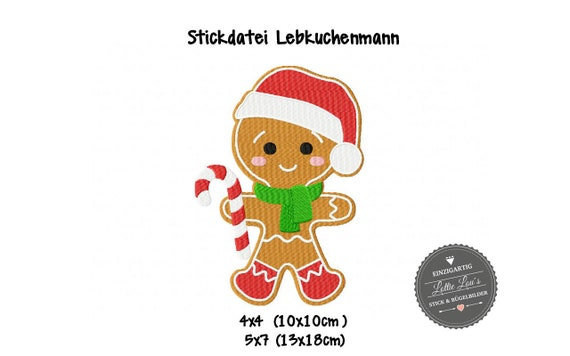 Embroidery file Gingerbread Man Xmas Christmas