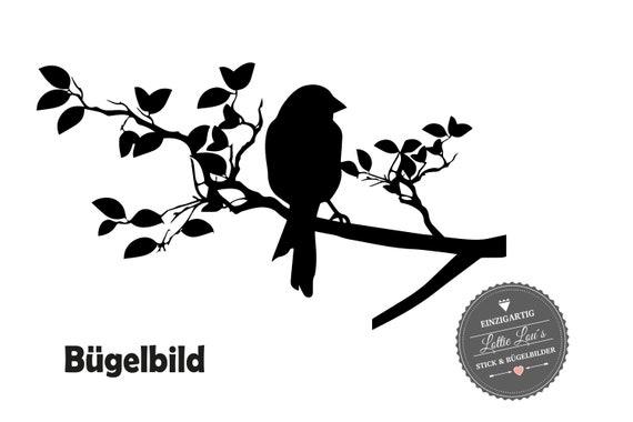 Iron on Hanger Bird on AST