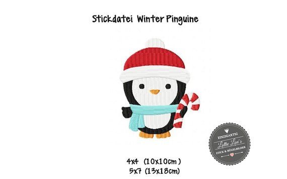 Embroidery File Christmas Penguin Christmas