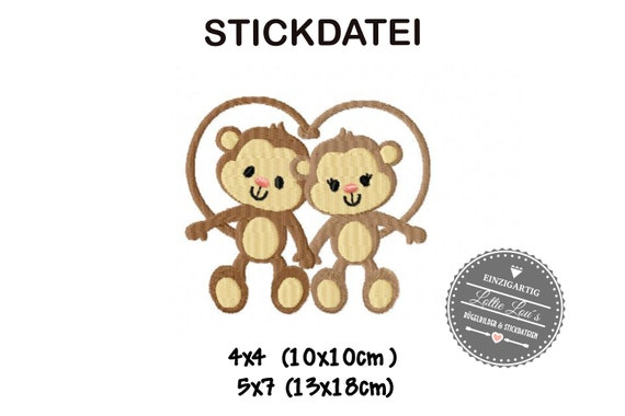 Stick file Ape Monkey Love 4x4 5x7