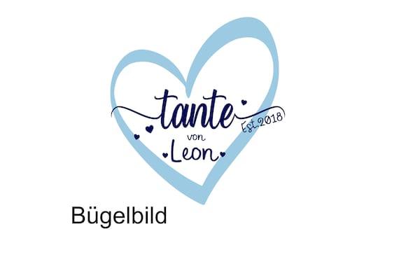 Bügelbild Tante estTante  seit Plott Aunt  mit Wunschnamen  Statement Shirt