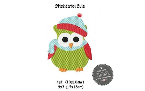 Embroidery file Christmas Owl Owl Christmas