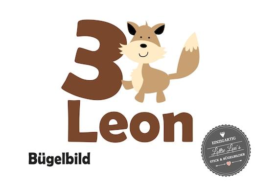 Bügelbild DIY Individuell Geburtstag Birthday Fuchs Fox Zahl Name Glitzer Flock Effect Aufbügler Bügelbilder Iron On Geburtstagsshirt