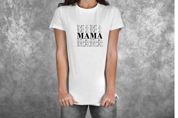 Bügelbild Mom est Mama sei Mom Plott mit Wunschnamen Statement Shirt
