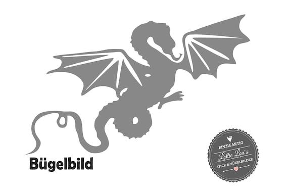 Bügelbild Drachen Dragon  XXL