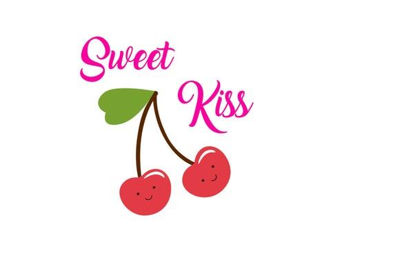 Iron on ironing day birthday sweet Kiss Cherry Cherry