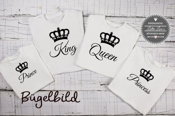 Ironing picture family King Queen Princess Prince with crown