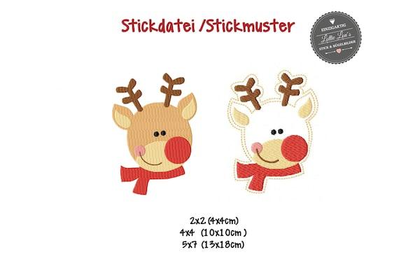 Embroidery file Christmas Elk reindeer Christmas