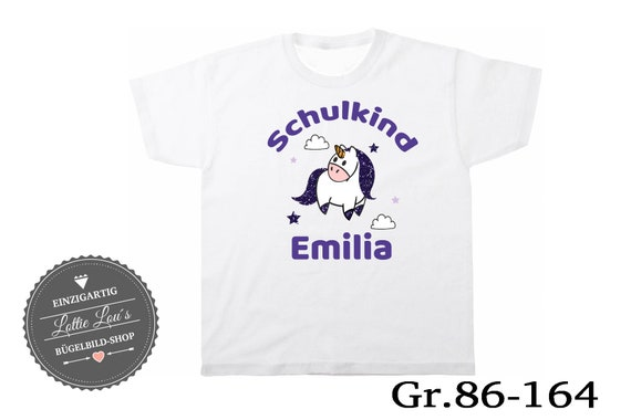 T-shirt Child unicorn 2017 wish name