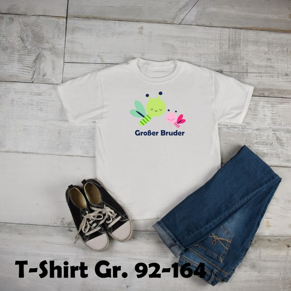 Iron on T-shirt big little brother Dragonfly Firefly Little Sister Flex Glitter flock effect brother sibling Bee Firefly sister