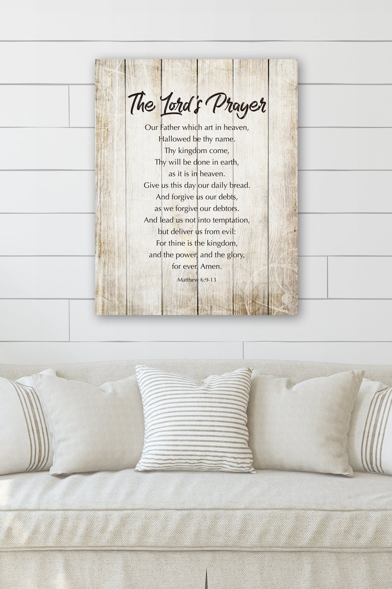 Bible Verses Wall Decor **NEW** The Lord/'s Prayer Our Father Prayer
