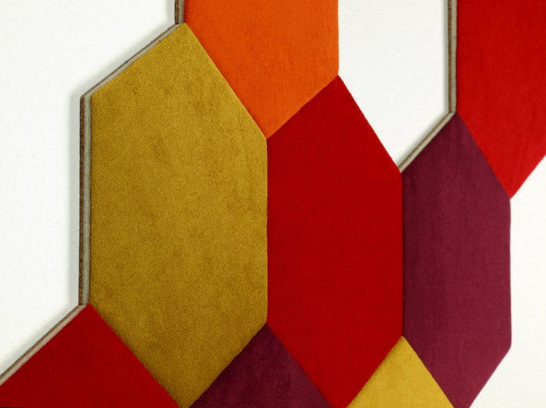Cork And Velvet Wall Tiles Hexagon Wall Decor Set Of 3 Etsy