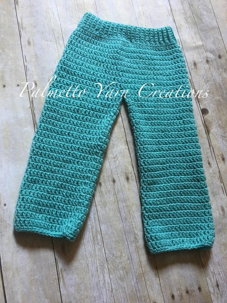 Crochet Baby Pants Pattern 12 18 Month Crochet Pants Photo Etsy