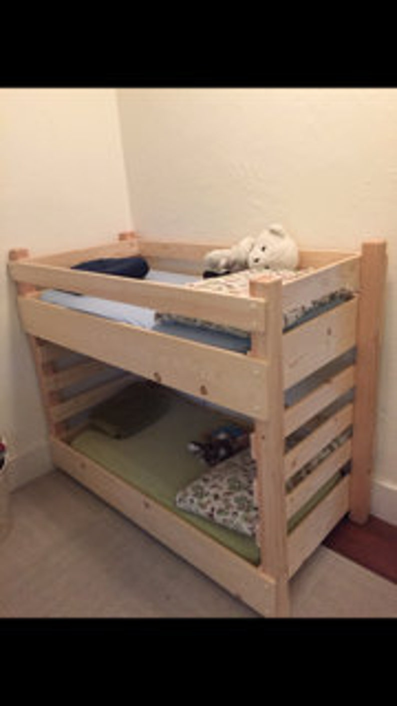 Toddler Bunk Bed Do It Yourself Diy Plans Extended Size Fits An Ikea 63 Inch Mattress