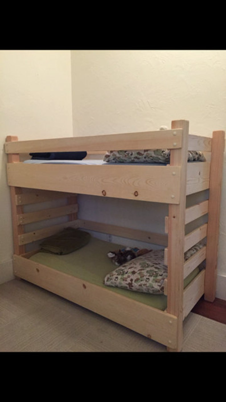 Toddler Bunk Bed Do It Yourself (DIY) Plans (fits A Crib Size Mattress)