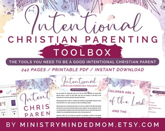 eBook Guide: Christian Parenting Book with Intentional Parenting Advice for Christian Moms & Christian Family | Christian Parenting Toolbox