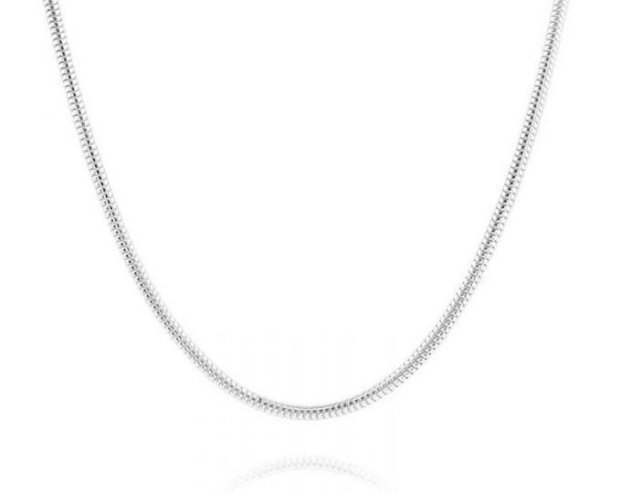 Mens Snake Chain 925 Silver, Thick Flexible Snake Chain, 925 Silver Necklace, Silver Pendant Chain For Men, Italian Chain, Boyfriend Gift