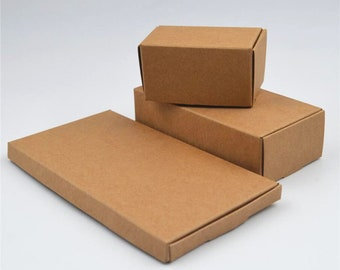 Kraft Paper Boxes, Gift Boxes, FITS Thru MAIL SLOT, Jewelry Box, Soap Boxes, Wedding Favor Boxes, Kraft Folding Box, Paper Box, Choose Size