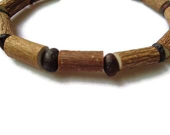 HAZELWOOD Bracelet, Raw Baltic AMBER Beads, Hazelwood Beads, Black Cherry Amber, Healing Hazelwood, Eczema, Psoriasis, Acid Reflux, Acidosis