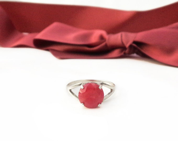 925 Sterling Silver Rhodonite Ring, Natural Faceted Rhodonite, Pink Rhodonite, Rhodonite Ring, Rhodonite Gemstone, Heart Chakra,Gift for Her