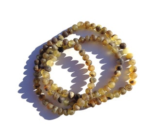 Baltic Amber Rosary Necklace, Long 108 Prayer Beads Necklace, Japa Mala Rosary, 108 Buddha Prayer Necklace, Om Necklace, 108 Mala Beads